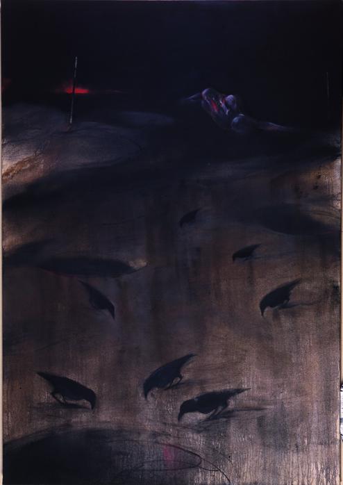 Paysage, 2001, Oli sobre tela, 230 x 160 cm / 90,5 x 62,9 in.